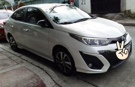 Selling Pearlwhite Toyota Vios 2019 in Quezon City