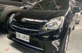 Black Toyota Wigo 2017 for sale in Quezon City