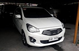 Selling White Mitsubishi Mirage G4 2018 Automatic Gasoline at 10033 km