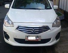 Selling White Mitsubishi Mirage G4 2015 Manual Gasoline