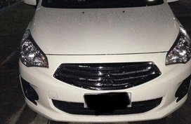Selling White Mitsubishi Mirage G4 2015 Automatic Gasoline