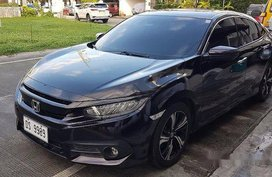 Black Honda Civic 2016 at 19000 km for sale