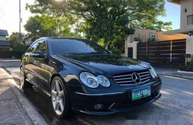 Selling Blue Mercedes-Benz CLK55 AMG 2004 at 47000 km