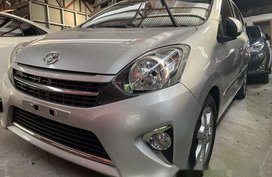 Silver Toyota Wigo 2016 for sale in Quezon City