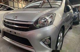 Silver Toyota Wigo 2016 for sale in Quezon City