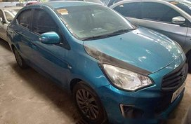 Selling Blue Mitsubishi Mirage 2017 Manual Gasoline