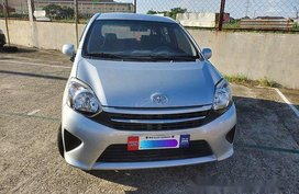 Silver Toyota Wigo 2017 Hatchback for sale