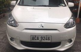Selling White Mitsubishi Mirage 2014 Automatic Gasoline