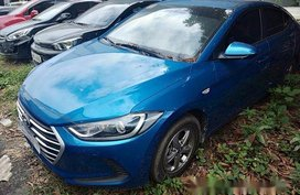 Sell Blue 2018 Hyundai Elantra Manual Gasoline at 13000 km