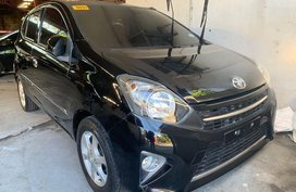 Black Toyota Wigo 2017 for sale in Quezon City