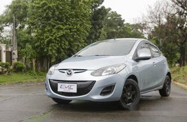 Blue Mazda 2 2014 for sale in Quezon City