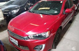 Red Mitsubishi Lancer Ex 2016 for sale in Quezon City