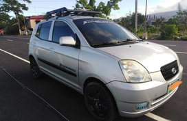 Silver Kia Picanto 2010 for sale in Manual