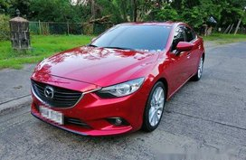 Red Mazda 6 2014 for sale in Parañaque