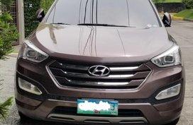 Purple Hyundai Santa Fe 2013 for sale in Automatic