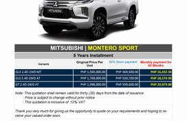 Brand New 2020 Mitsubishi Montero Sport in Pasig - WE CATER ALL BRANDS AND VARIANTS