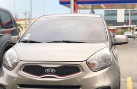 Grey Kia Picanto 2015 for sale in Manual
