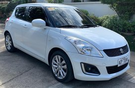 Pearl White Suzuki Swift 2015 for sale in Manila