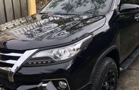 Black Toyota Fortuner 2018 for sale in Automatic
