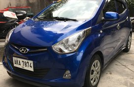 Blue Hyundai Eon 2015 for sale in Manual