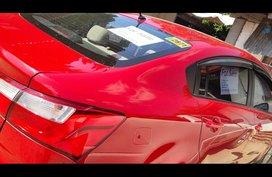 Sell Red 2016 Kia Rio Sedan at 38000 in Subic