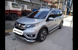 Silver Honda BR-V 2017 at 17000 for sale