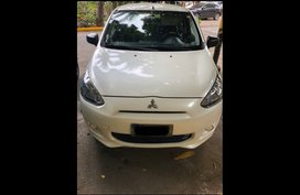 White Mitsubishi Mirage 2013 Hatchback at 75000 for sale