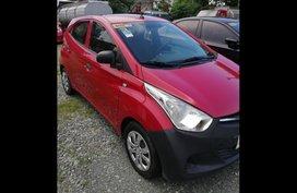 Red Hyundai Eon 2014 Hatchback for sale in Manila