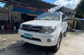 White Toyota Fortuner 2007 for sale in Quezon City