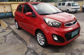Red Kia Picanto 2013 for sale in Manila