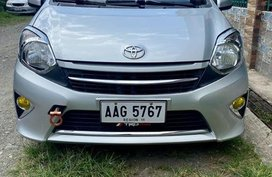 Silver Toyota Wigo 2015 for sale in Manila