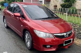 Red Honda Civic 2010 for sale in Quezon City