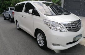 White Toyota Alphard 2011 for sale in Manila