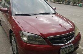 Red Honda Civic 2005 for sale in Calamba