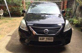 Black Nissan Almera 2014 for sale in Manual