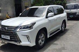 White Lexus Lx 570 2017 for sale in Manila