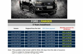 Brand New 2019 Ford Ranger for sale in Pasig