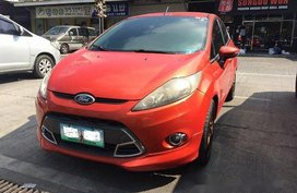 Orange Ford Fiesta 2013 for sale in Manila