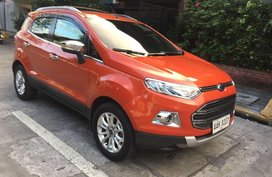 Orange Ford Ecosport 2014 SUV / MPV at Automatic  for sale in Manila