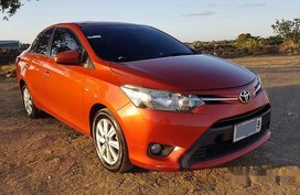 Orange Toyota Vios 2015 for sale in Manila