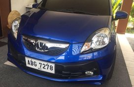 Blue Honda Brio 2015 for sale in Pasig