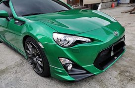 Green Toyota 86 2012 for sale in Quezon City