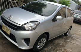 Silver Toyota Wigo 2015 for sale in Davao