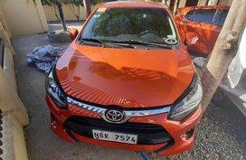 Orange Toyota Wigo 2018 Automatic CDO