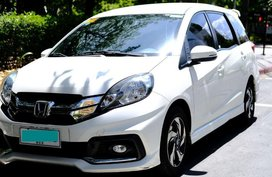 White Honda Mobilio 2015 SUV / MPV for sale in Manila