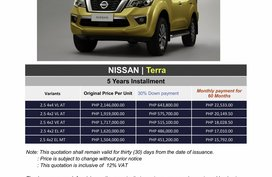 2020 Nissan TERRA (We cater all Brands)