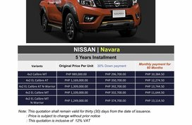 2020 Nissan NAVARA (We cater all Brands)