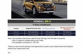 2020 Honda BR-V (We Cater All Brands)