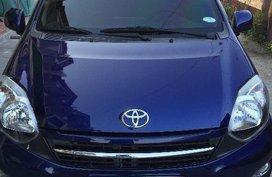 Blue Toyota Wigo 2017 for sale in Manila