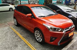 Selling Orange Toyota Yaris 2014 in Manila